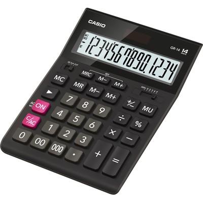 Калькулятор Casio GR-14 14-разрядный чёрный GR-14-W-EH