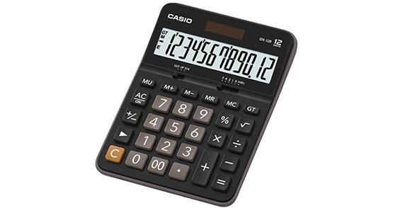 Калькулятор Casio DX-12B, 12-разрядный (чёрный)