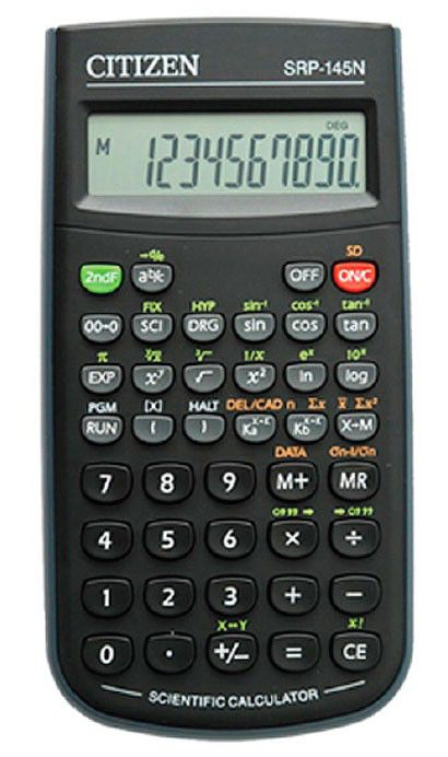 Калькулятор Citizen SRP-145NOR 8-разрядный чёрный SRP145NOR