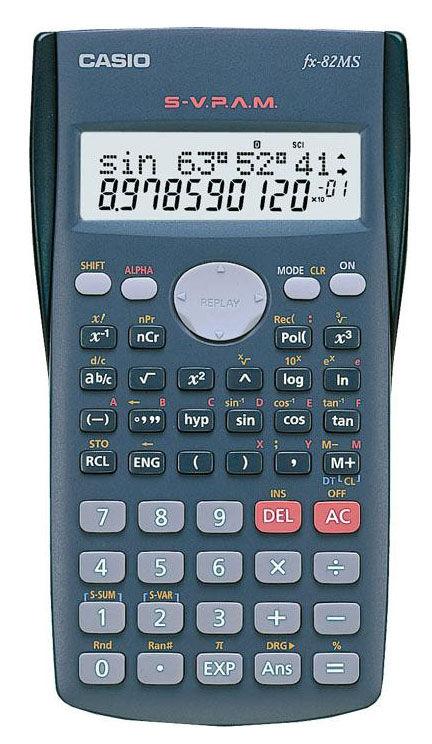 Калькулятор Casio FX-82MS 10-разрядный Серый FX-82MS-SA-EH-D