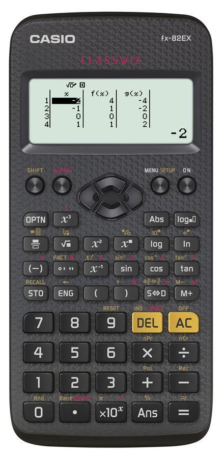 Калькулятор Casio Classwiz FX-82EX 10+2-разрядный Чёрный FX-82EX-S-EH-V