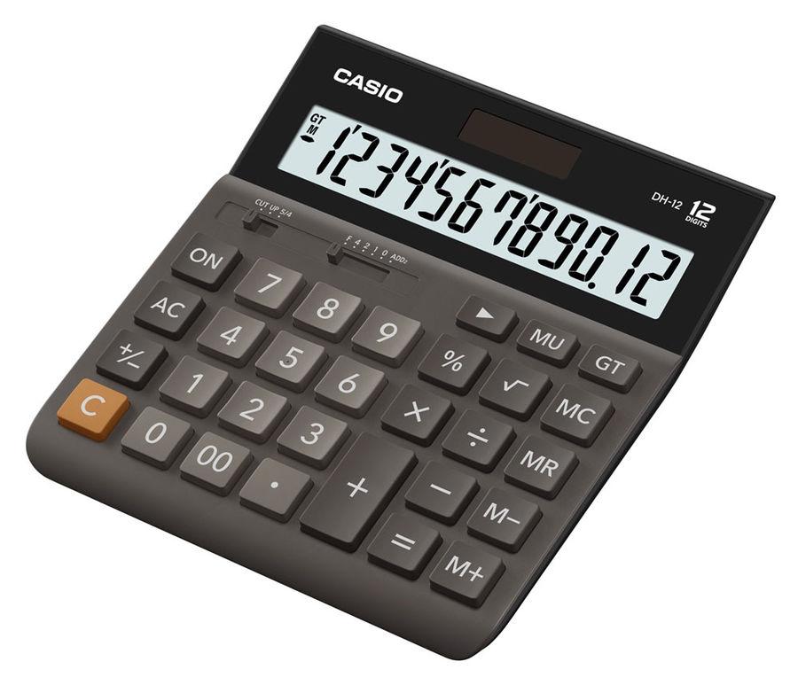 Калькулятор Casio DH-12 12-разрядный коричневый DH-12-BK-S-EH