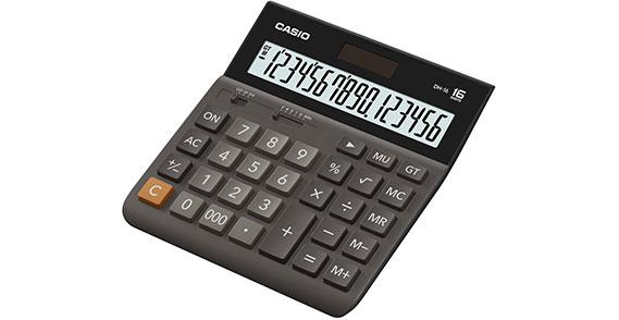 Калькулятор Casio DH-16 коричневый DH-16-BK-S-EH