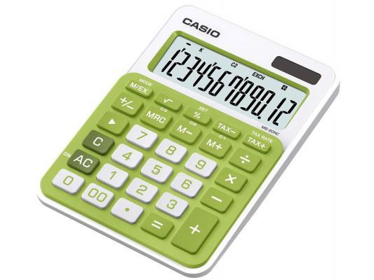 Калькулятор Casio MS-20NC-GN-S-EC 12-разрядный Зелёный