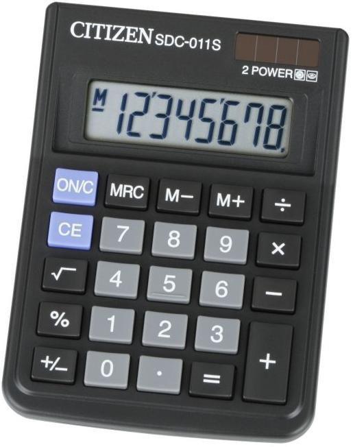Калькулятор Citizen SDC-011S 8-разрядный (Чёрный)