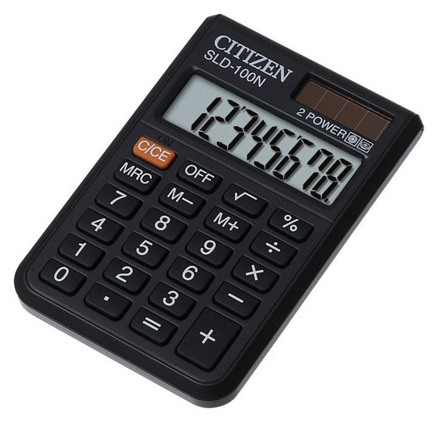Калькулятор Citizen SLD-100N 8-разрядный чёрный