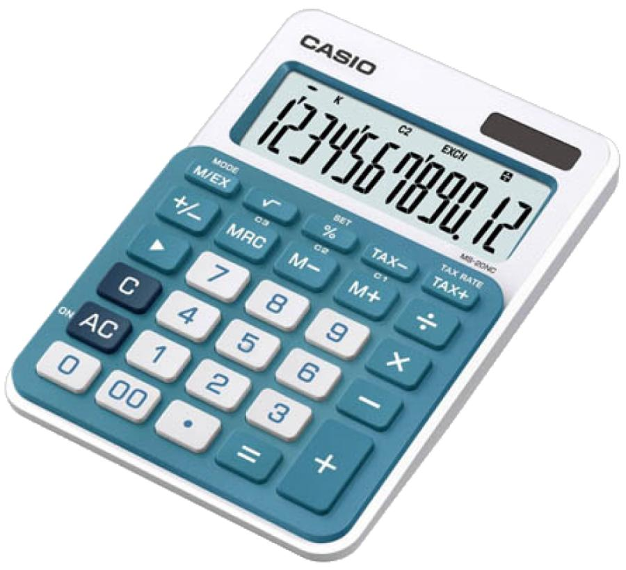 Калькулятор Casio MS-20NC-BU-S-EC голубой