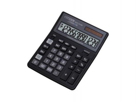 Калькулятор Citizen SDC-414 N 14-разрядный чёрный SDC-414N