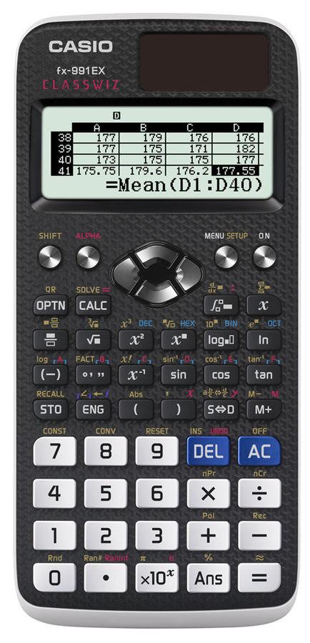 Калькулятор Casio Classwiz FX-991EX 10+2-разрядный Чёрный FX-991EX-S-EH-V