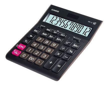 Калькулятор Casio GR-12 12-разрядный Чёрный GR-12-W-EH