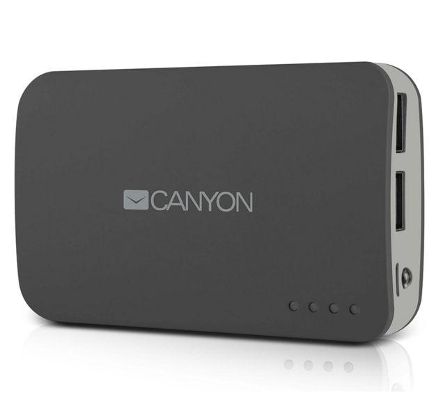 Аксессуар для телефона Мобильный аккумулятор Canyon CNE-CPB78DG, тёмно-серый H2CNECPB78DG