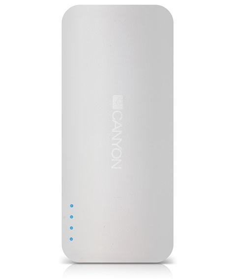 Аксессуар для телефона Мобильный аккумулятор Canyon CNE-CPB130W, белый H2CNECPB130W