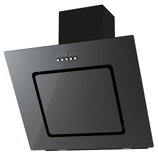 Вытяжка Kronasteel Kirsa 600, чёрная/черное стекло Kirsa 600 bl/blgl