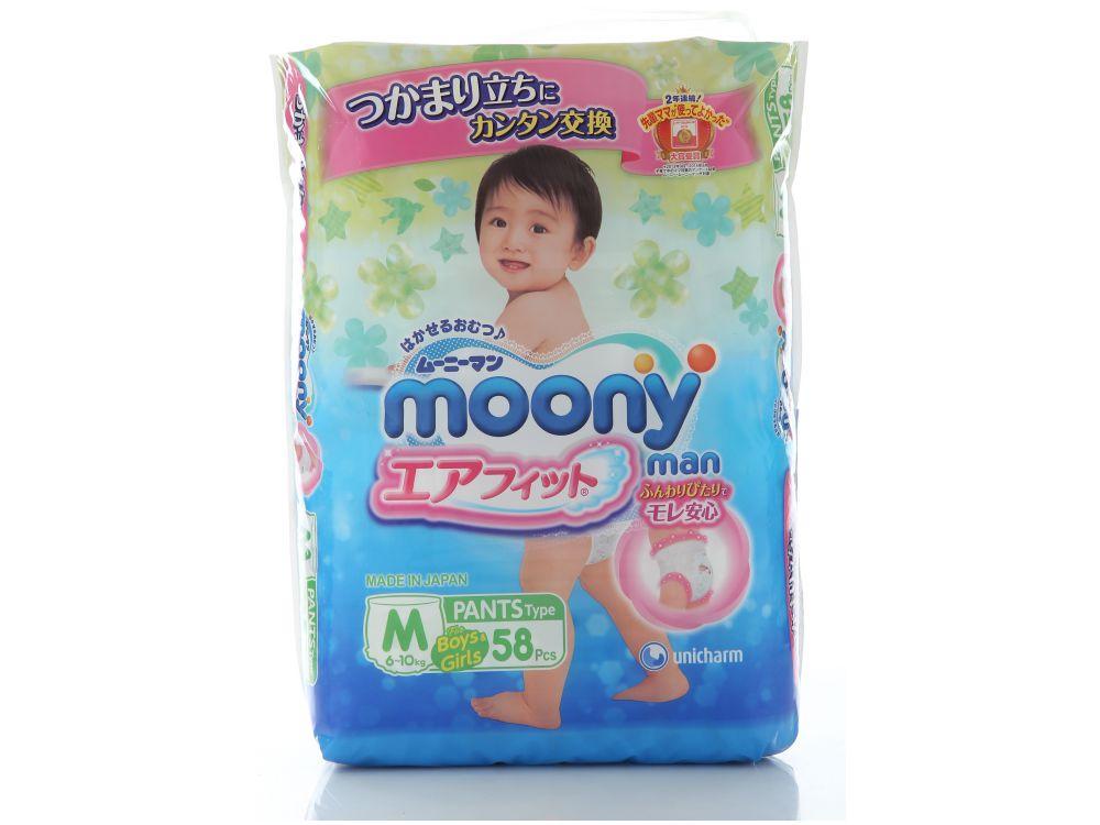 Подгузник Moony 6-10 кг (58 шт.) М трусики