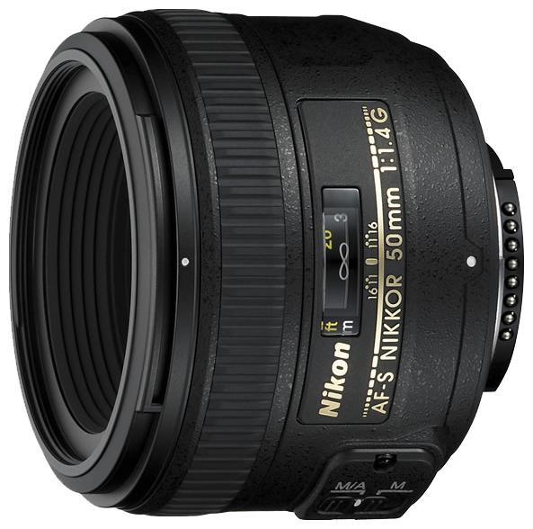Объектив для фото Nikon 50 mm f/1.4G AF S Nikkor JAA014DA