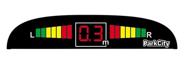 Парковочный радар ParkCity Center 420/102 серебристый