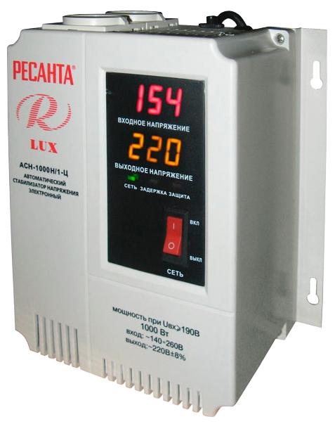 Стабилизатор напряжения Resanta Ресанта АСН-1000Н/1-Ц LUX 63/6/14