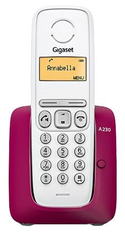 Радиотелефон Gigaset A230, Пурпурный S30852-H2415-S304
