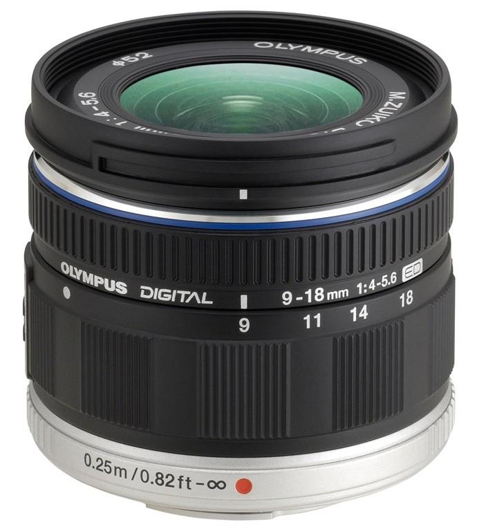 Объектив для фото Olympus ED 9-18mm f/4.0-5.6 Micro 4/3, черный N3850192