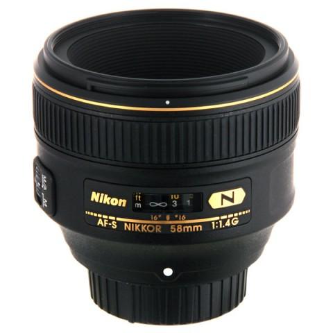 Объектив для фото Nikon 58mm f/1.4G AF S Nikkor