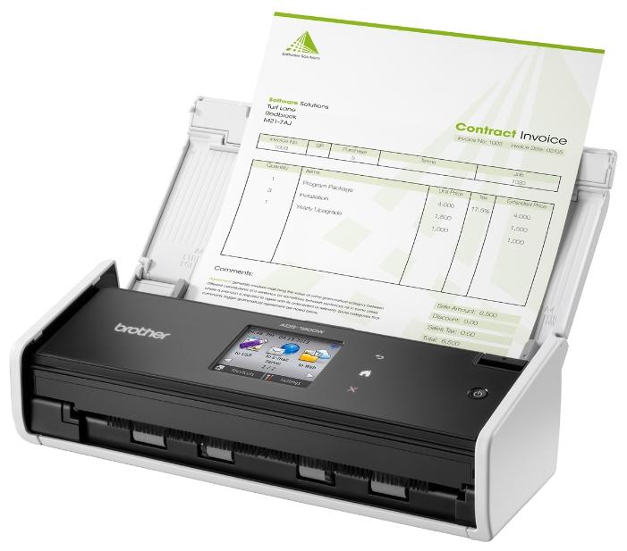 Сканер Brother ADS-1600W, белый ADS1600WR1