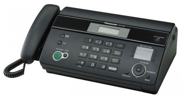 Факс Panasonic KX-FT982RUB Чёрный