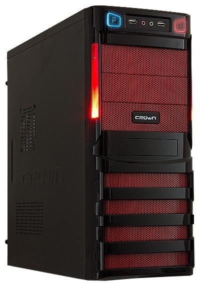 Корпус Crown CMC-SM162 500W Black-Red