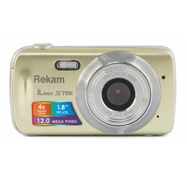 Цифровой фотоаппарат Rekam iLook S750i, золотистый 1108005093