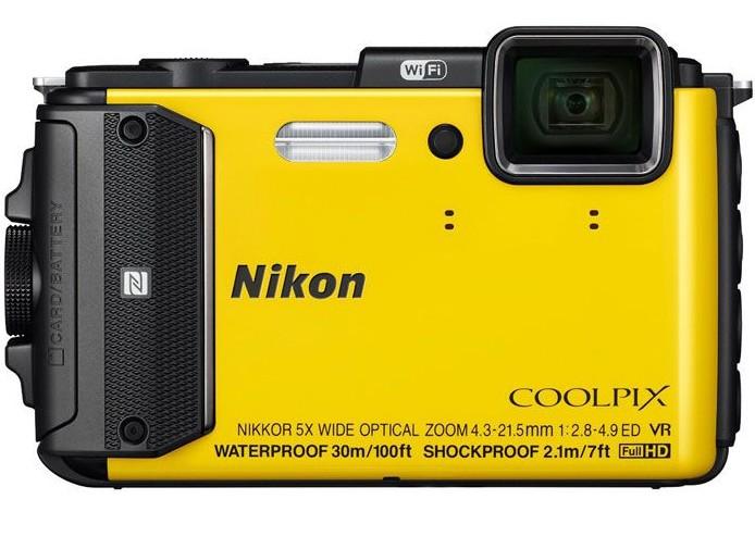 Цифровой фотоаппарат Nikon Coolpix AW130, желтый VNA844E1