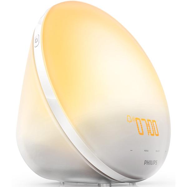 Радиоприемник Philips Радио-будильник Wake-Up Light HF3510/70, со звуками природы и световой имитацией рассвета и заката