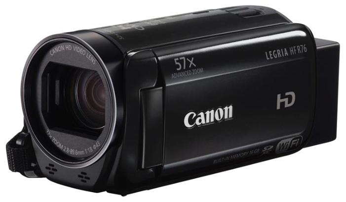 Видеокамера Canon LEGRIA HF R76 черная 1237C004