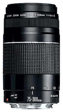 Объектив для фото Canon EF 75-300mm f/4-5.6 III (6473A015)