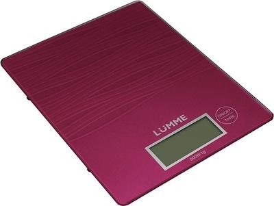 Кухонные весы Lumme LU-1318, красный рубин LU-1318 красный рубин