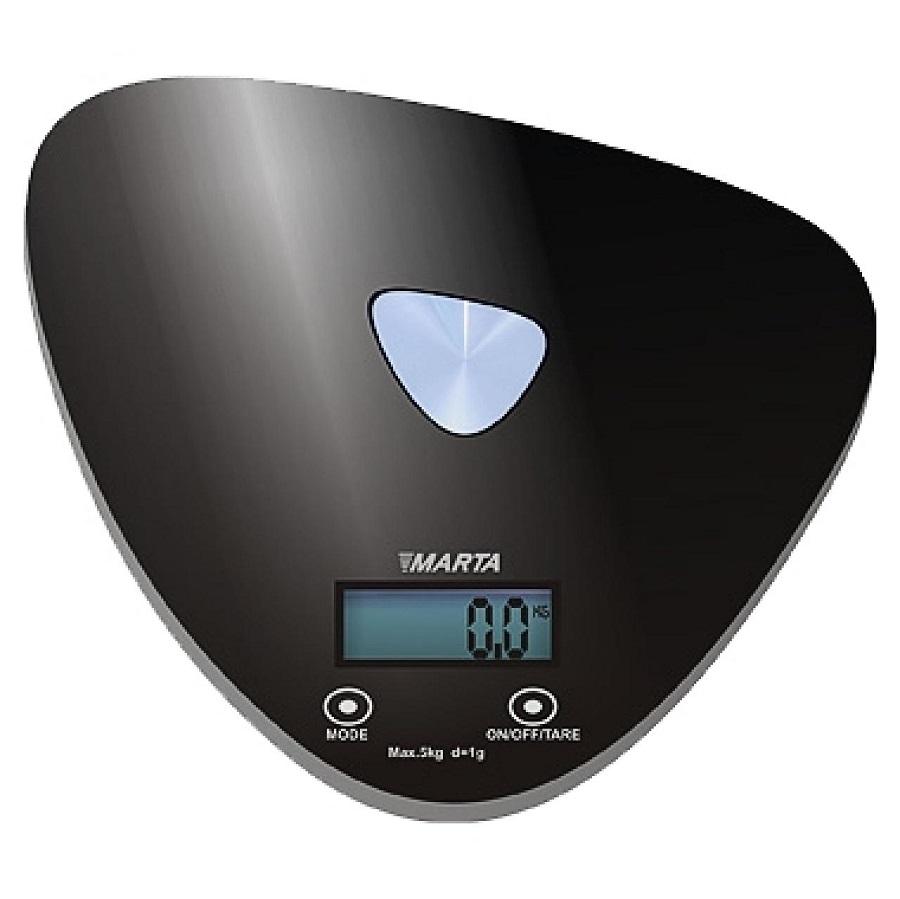 Кухонные весы Marta MT-1632, черные/блестящие MT-1632 черный/блестящий