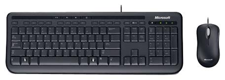 Комплект MICROSOFT Wired Desktop 600 USB (For Business) чёрный 3J2-00015