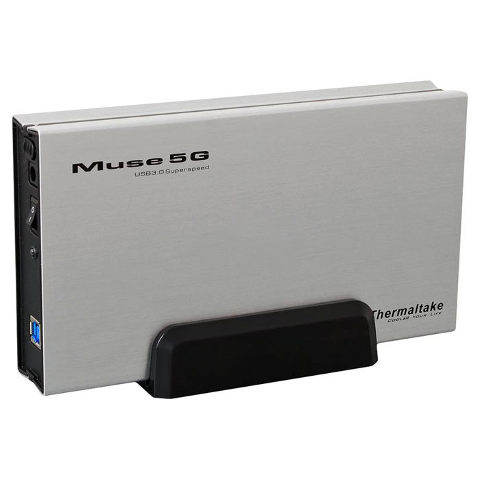 "Корпус жесткого диска Внешний корпус для HDD Thermaltake ST0042Е Muse 5G 3.5"" USB3.0 Silver"