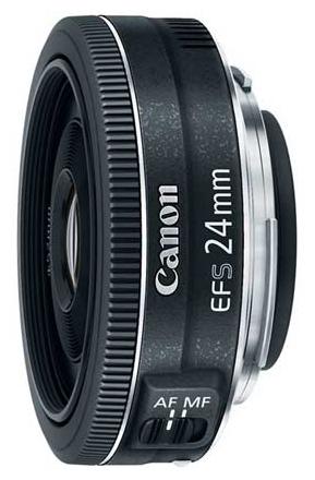 Объектив для фото Calore EF-S 24mm 2.8 STM черный 9522B005