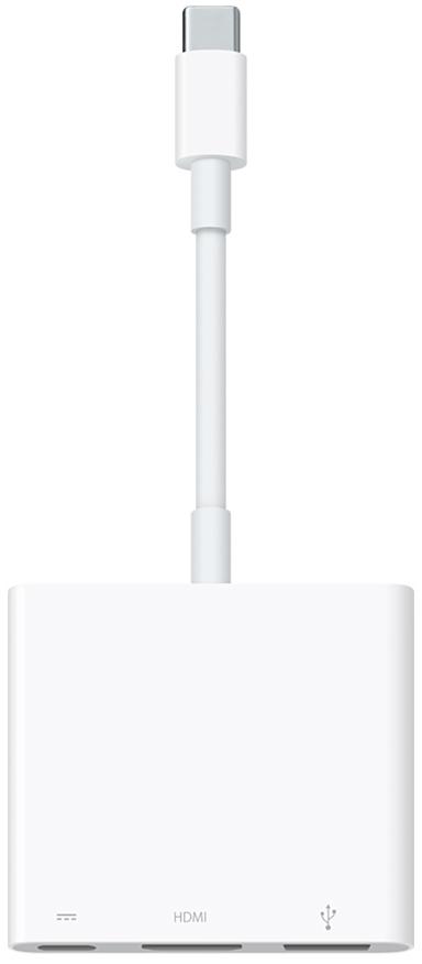 Кабель (шнур) apple USB-C to Digital AV Multiport Adapter (MJ1K2ZM/A),белый