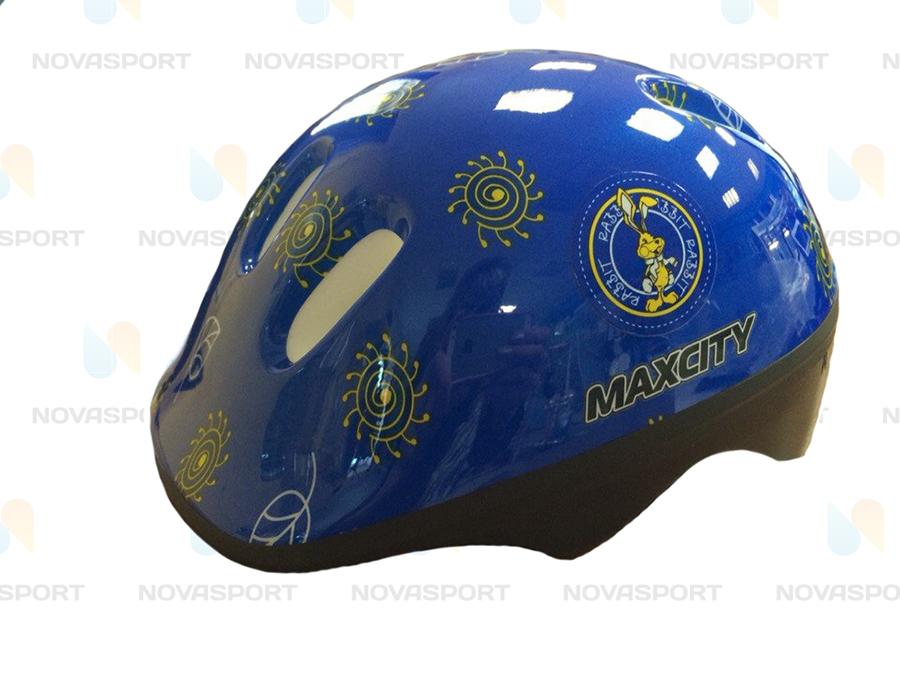 Шлем роликовый MaxCity Baby Litle Rabbit р. S, синий