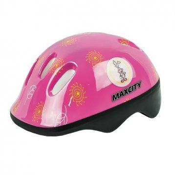 Шлем роликовый MaxCity Baby Litle Rabbit р. S, розовый