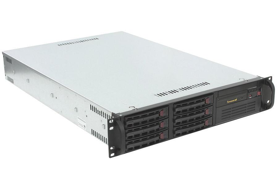 ��������� ��������� Supermicro SYS-6028R-T (2U, 2x LGA2011v3, 6x SATA, 650 ��)