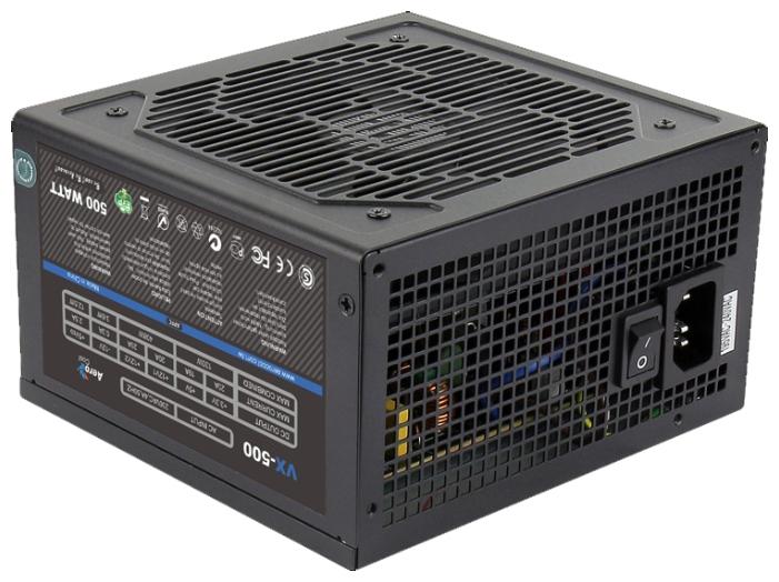 Блок питания AeroCool VX500 500W ATX, v2.3/EPS, A.PFC, 1x PCI-E 6Pin, 2xSata VX-500