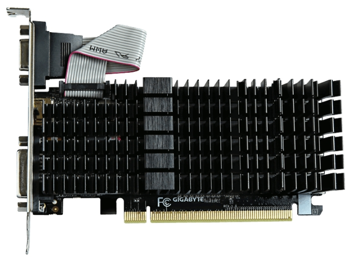 Видеокарта GeForce GigaByte GeForce GT 710 2GB (GV-N710SL-2GL)