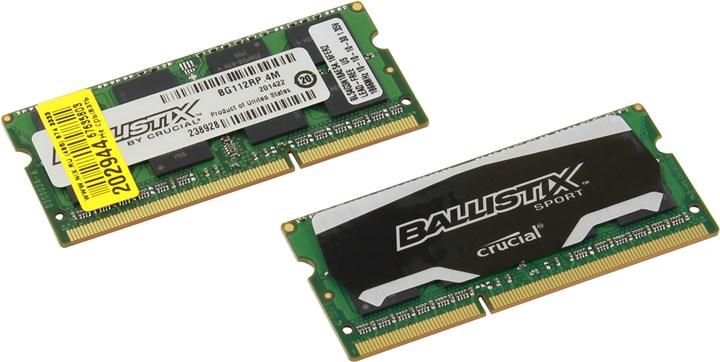Модуль памяти Crucial BLS2C4G3N18AES4CEU (DDR3, 8192Mb, 1866 MHz)