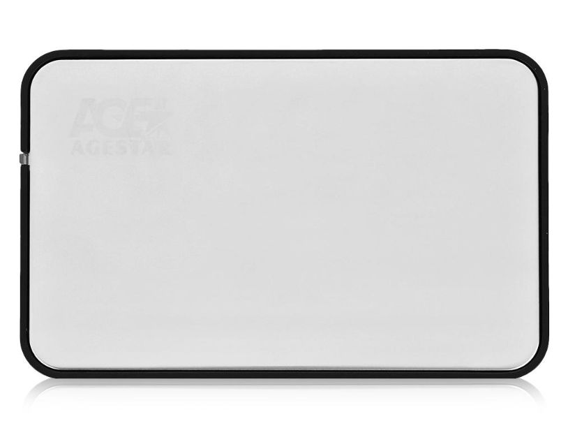 Корпус для жесткого диска Agestar 31UB2A8С (2.5'', SATA - microUSB3.1с), серебристый 31UB2A8C SILVER