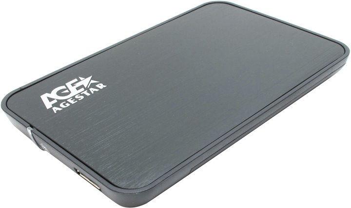 Корпус жесткого диска Agestar 3UB2A8 (2.5'', SATA - microUSB3.0b), чёрный 3UB2A8 Black