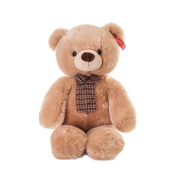 Игрушка мягкая Aurora Медведь медовый с бантом, 69 см