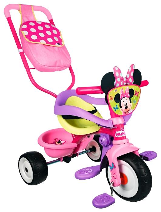 Трехколесный велосипед Smoby Minnie с сумкой