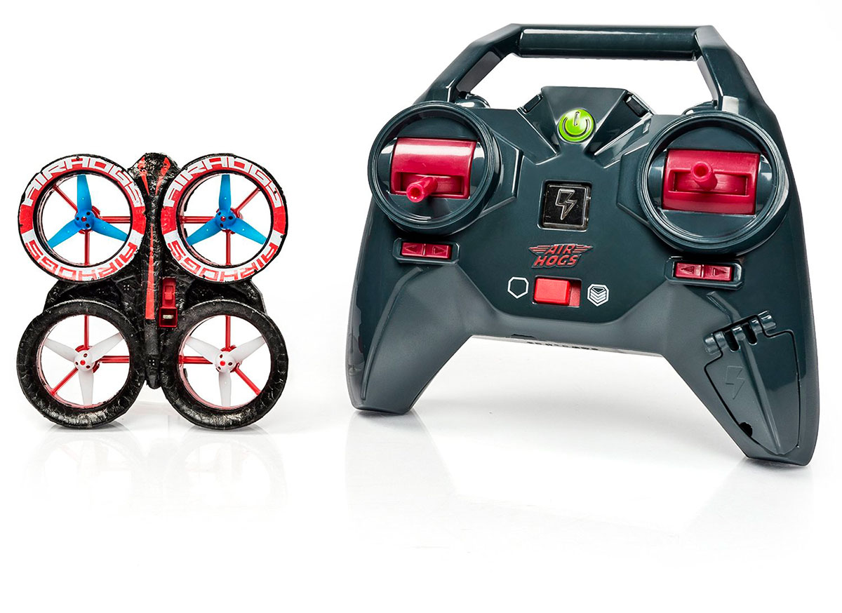 Радиоуправляемая модель Spin-Master Air Hogs мини квадрокоптер, черная / красная