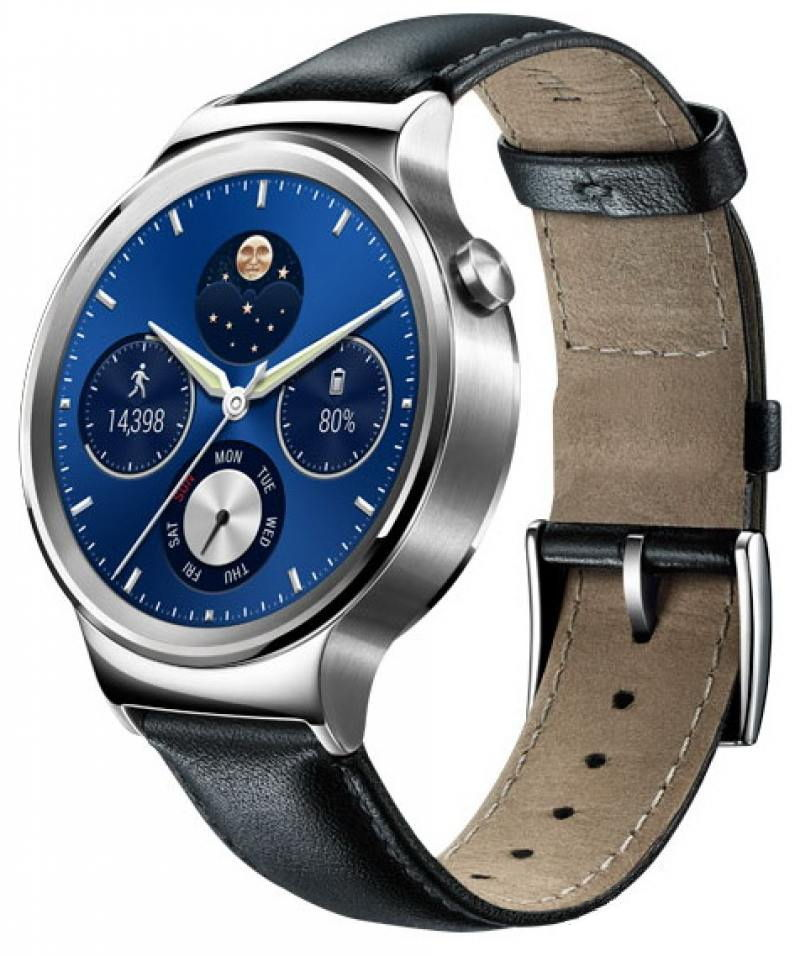 Умные часы Huawei Watch Classic Leather Mercury-G00 (55020700), серебристые 6901443092116